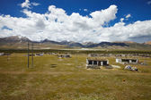 Tibetan rural village — Stock Photo