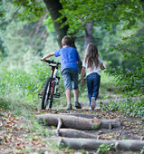 Children in forest — Stock Photo