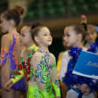 Young gymnasts - contestants — Stock Photo