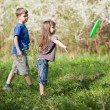 Kids playing outside — Stock Photo