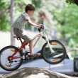 Jump on bike — Stock Photo #24048573