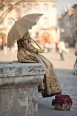 A estátua ao vivo — Foto Stock