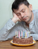 Adult man celebrates a milestone — Stock Photo