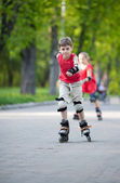 Skating in park — Stock Photo