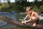 Summer fun at the river — Stock Photo