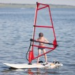 Stock Photo: Windsurfing for little