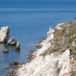 Rocky cliffs, the Black Sea coast — Stock Photo