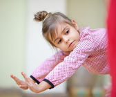Little girl dancing — Stock fotografie