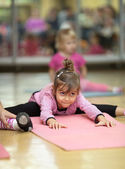Little girl, fitness — Stock Photo