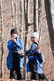 Pequenos exploradores — Foto Stock