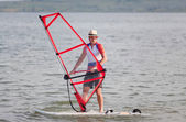 Windsurfing fun — Stock Photo