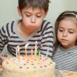 Children at birthday party — Stock Photo #26749239