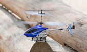 Remote controlled helicopter — Stock Photo
