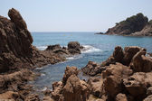 Rocky shores, Lloret de Mar, Spain — Stock Photo