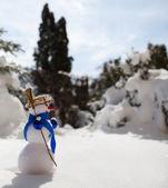 Little cute snowman — Stock Photo