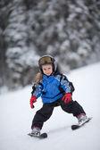 Little ski girl — Stok fotoğraf