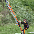 Stock Photo: Windsurfing lesson
