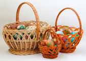 Three Easter baskets — Stock fotografie