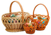 Three Easter baskets — Stock Photo