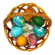 Easter eggs in basket — Stock Photo #42021133