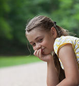 Calm little girl — Stock Photo