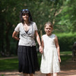 Mother and daughter in park — Stock Photo #42881143