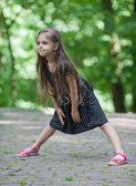 Little girl dancing — Stock Photo