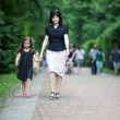 Mother and daughter in park — Stock Photo #49345339