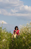 Anne ve kızı bisiklete binme — Stok fotoğraf