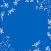 Postkarte mit schönen blumen — Stockvektor