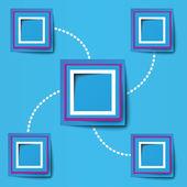 Montatura quadrata per concetti aziendali — Vettoriale Stock