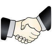 Handshake. sign of agreement — Stock Vector