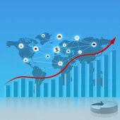 Digital business template — Stock Vector