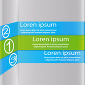 Design with three stripes. Design element. — Stock Vector
