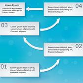 Regime de turnos de papel com as setas — Vetorial Stock