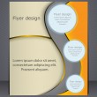 Layout business brochure. Layout flyer, template. — Stock Vector