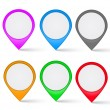Set of multi-colored map markers — Stock Vector #31987625