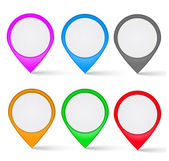 Set of multi-colored the map markers — Stock Vector