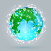 Globe digital connection, Digital communications — Stock Vector