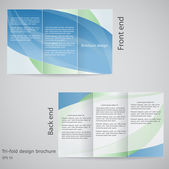 Tri-fold brochure design. Brochure template design in shades of — Stock Vector