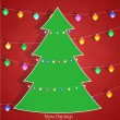 Christmas background with Christmas tree — Stock Vector