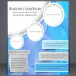 Business brochure. Blue flyer template. — Stock Vector