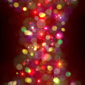 Festive Christmas background with lights. — Stock Vector