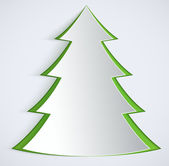 Abstract paper Christmas Tree. — Stock Vector