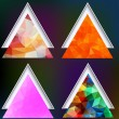 Polygonal geometric shapes. Set of triangles on the blurred back — Stock Vector