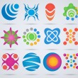 Abstract icons. Set of icons for design. — Image vectorielle