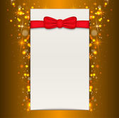 Christmas background with blank sheet of paper. — Stock Vector