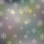 Old festive Christmas background with snowflakes — Stock Vector