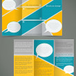 Vector green brochure layout design with yellow elements, busine — Stock Vector