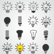 Light bulb icon, art vector set of business concepts, idea — Stock Vector